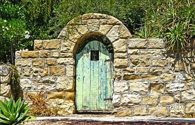 Photograph - Green Door With Stones by Marie Morrisroe