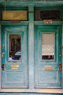 Photograph - Green Doors by Martin New