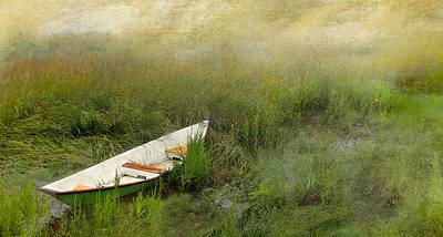 Art Print featuring the photograph Green Dory by Karen Lynch