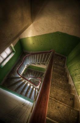 Grim Digital Art - Green Down by Nathan Wright