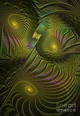 Generative Digital Art - Green Envy by Deborah Benoit