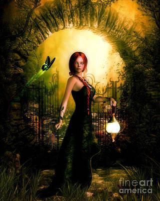 Green Eyed Lady Art Print by Putterhug  Studio