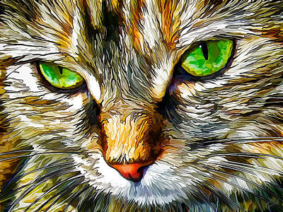 Digitally Manipulated Digital Art - Green-eyed Monster by ABeautifulSky Photography
