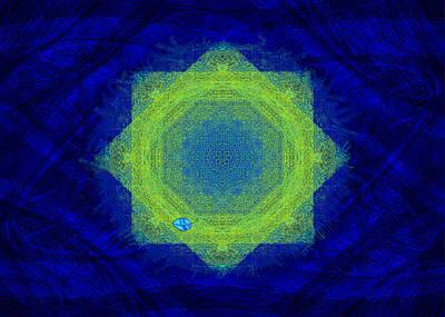 Digital Art - Green Eyed Weave by Mathilde Vhargon