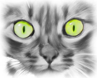 Digital Art - Green Eyes by Deborah Boyd