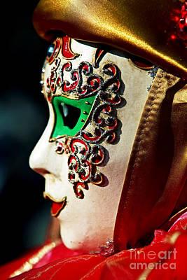 Carnevale Photograph - Green Eyes by John Rizzuto