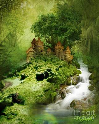 Art Print featuring the digital art Green - Fantasy Art By Giada Rossi  by Giada Rossi