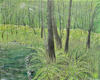 Painting - Green Fern by Leo Gehrtz