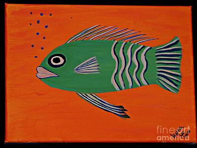Painting - Green Fish by Marcia Lee Jones
