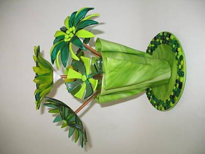 Green Flowers Art Print by Steven Schramek