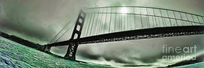 Photograph - Green Fog Golden Gate by Blake Richards
