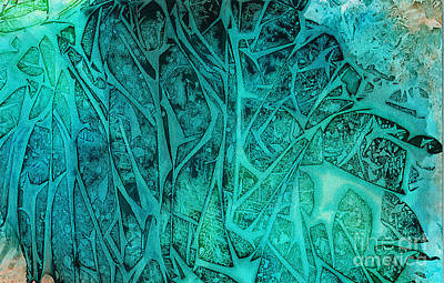 Wall Art - Painting - Green Forest by Alene Sirott-Cope