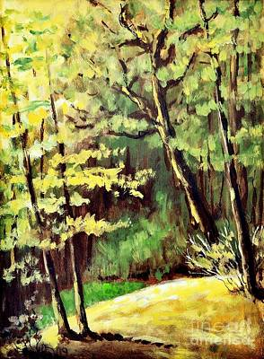Beautiful Scenery Painting - Green Forest by Martin Capek