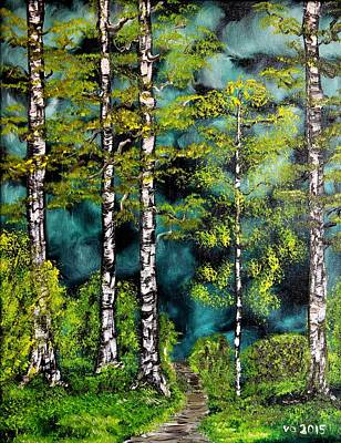 Painting - Green Forest by Valerie Ornstein