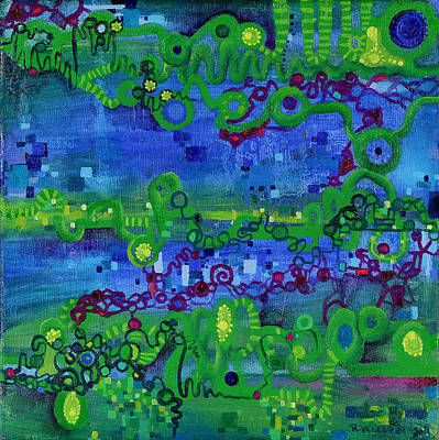 Green Functions Art Print by Regina Valluzzi