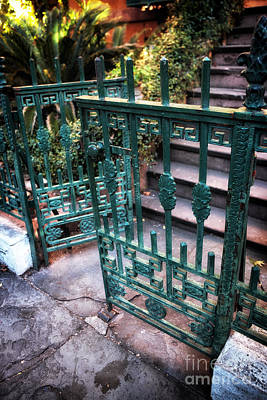 Old School House Photograph - Green Gate Of Savannah by John Rizzuto