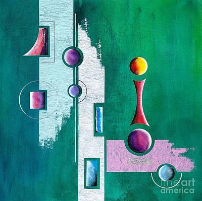 Green Geometrical Play Art Print by Franziskus Pfleghart