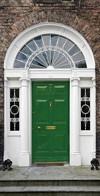 Photograph - Green Georgian Door - Dublin - Ireland by Jane McIlroy