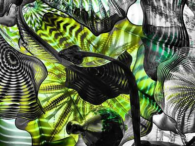 Art Blown Glass Photograph - Green Glass by Dan Sproul