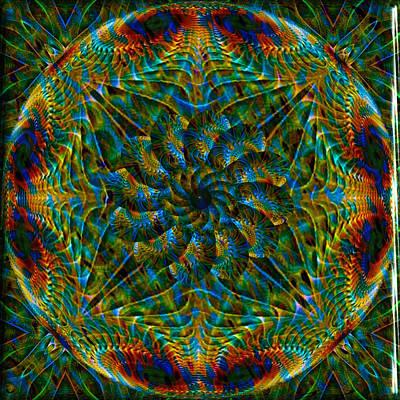 Digital Art - Green Glass Globular Kaleidoscope by Charmaine Zoe