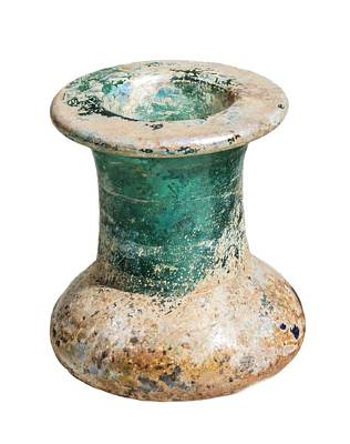 Inkwells Photograph - Green Glass Inkwell 1st Century Ce by Photostock-israel