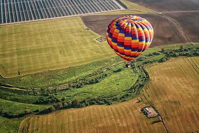 Flying Photograph - Green Globe by Zu Sanchez Photography