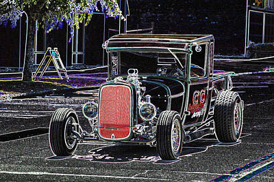 Hot Rod Photograph - Green Goblin Ge by Brad Walters