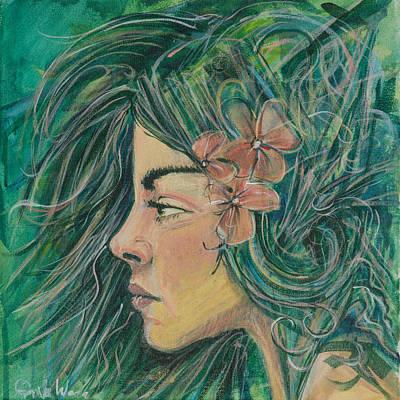 Green Goddess Art Print by Erik Warn