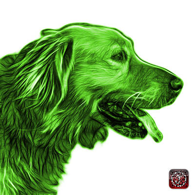 Painting - Green Golden Retriever - 4047 Fs by James Ahn