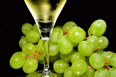 Green Grapes And Wine Original