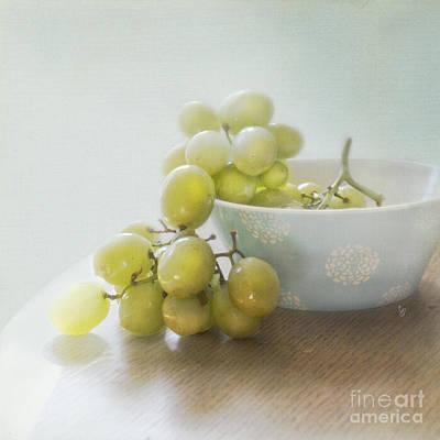 Green Grapes Art Print by Cindy Garber Iverson