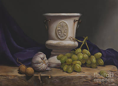 Painting - Green Grapes by Margit Sampogna