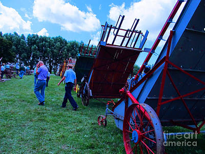 Green Grass And Old Equipments Art Print by Tina M Wenger