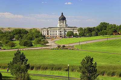 South Dakota Tourism Photograph - Green Grass Of Park Leading To South by Panoramic Images