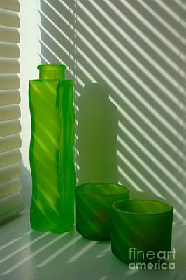 Green Green Glass Art Print