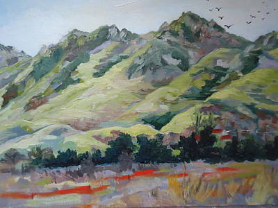 Painting - Green Green Hills Of Home by Luz Perez