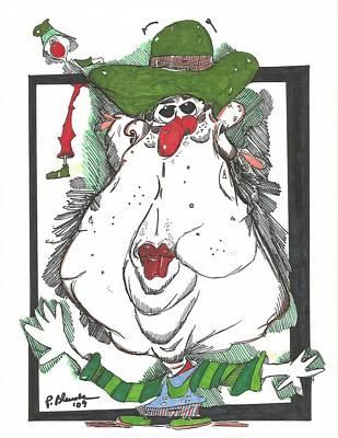 Green Hat Society Original by Philip Blanche