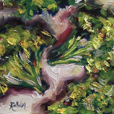 Broccoli Painting - Green Heads By Alabama Artist Angela Sullivan by Angela Sullivan