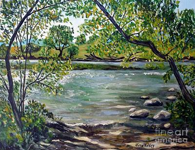 Painting - Green Hill Park On The Roanoke River by Julie Brugh Riffey