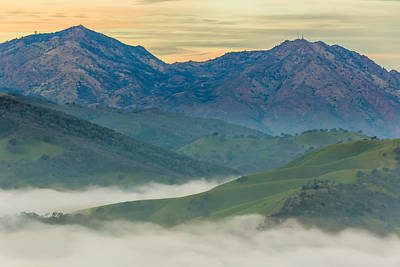 Bath Time Rights Managed Images - Green Hills and Mt. Diablo Royalty-Free Image by Marc Crumpler