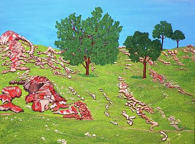 Green Hillside Art Print