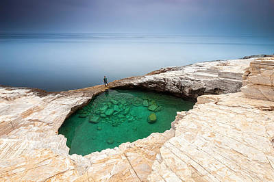Green Hole Print by Evgeni Dinev