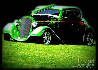 Photograph - Green Hot Rod by Bobbee Rickard