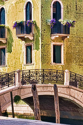 Photograph - Green House In Venice by Joan Herwig