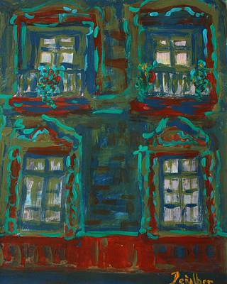 Painting - Green House  by Oscar Penalber