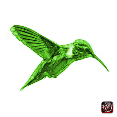 Digital Art - Green Hummingbird - 2054 F S by James Ahn