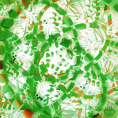 Green Industrial Abstract Art Print