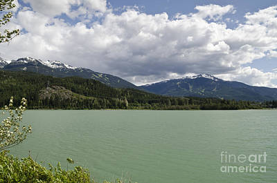 Art Print featuring the photograph Green Lake At Whistler by Maria Janicki