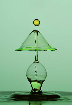 High Speed Photograph - Green Lamp by Jaroslaw Blaminsky