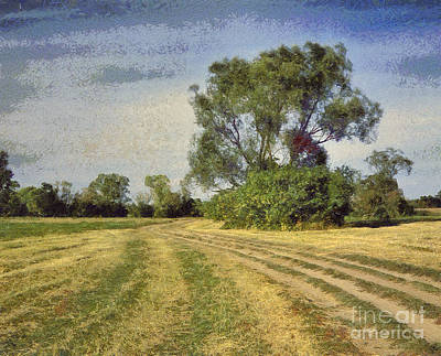 Green Landscape  Art Print by Odon Czintos